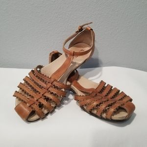 Pikolinos Sandals Womens Size 41 Ankle Strap Tan